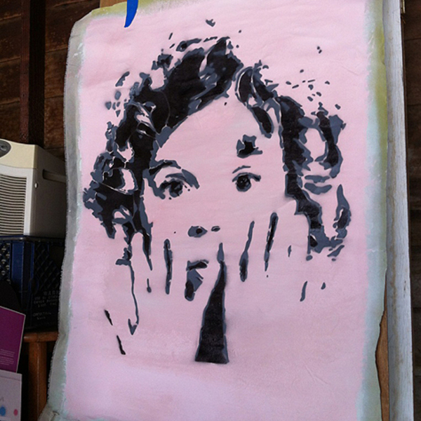 Thumb shirley temple   spray paint on canvas
