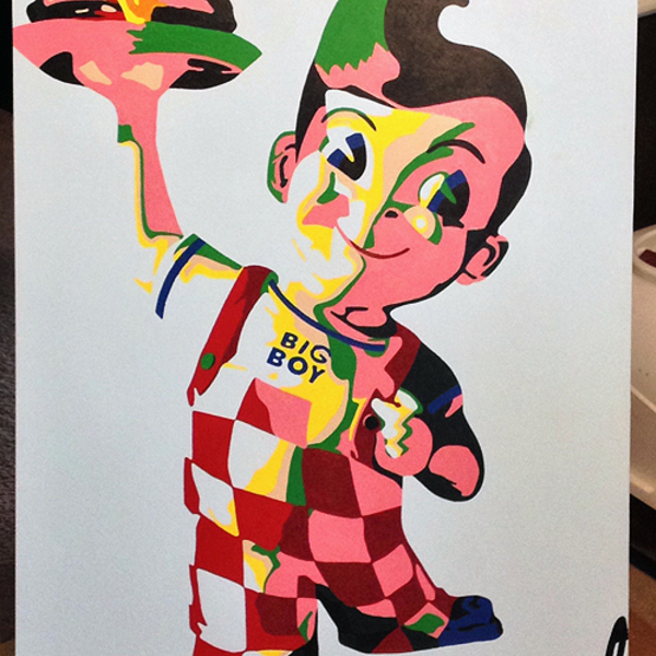 Thumb big boy   acrylic on art board