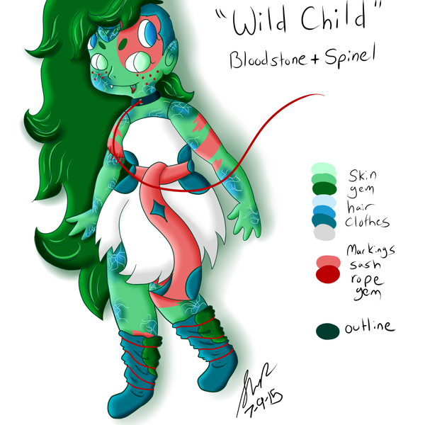 Thumb chrysocolla  wild child
