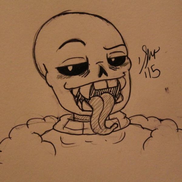 Thumb fanged bara sans