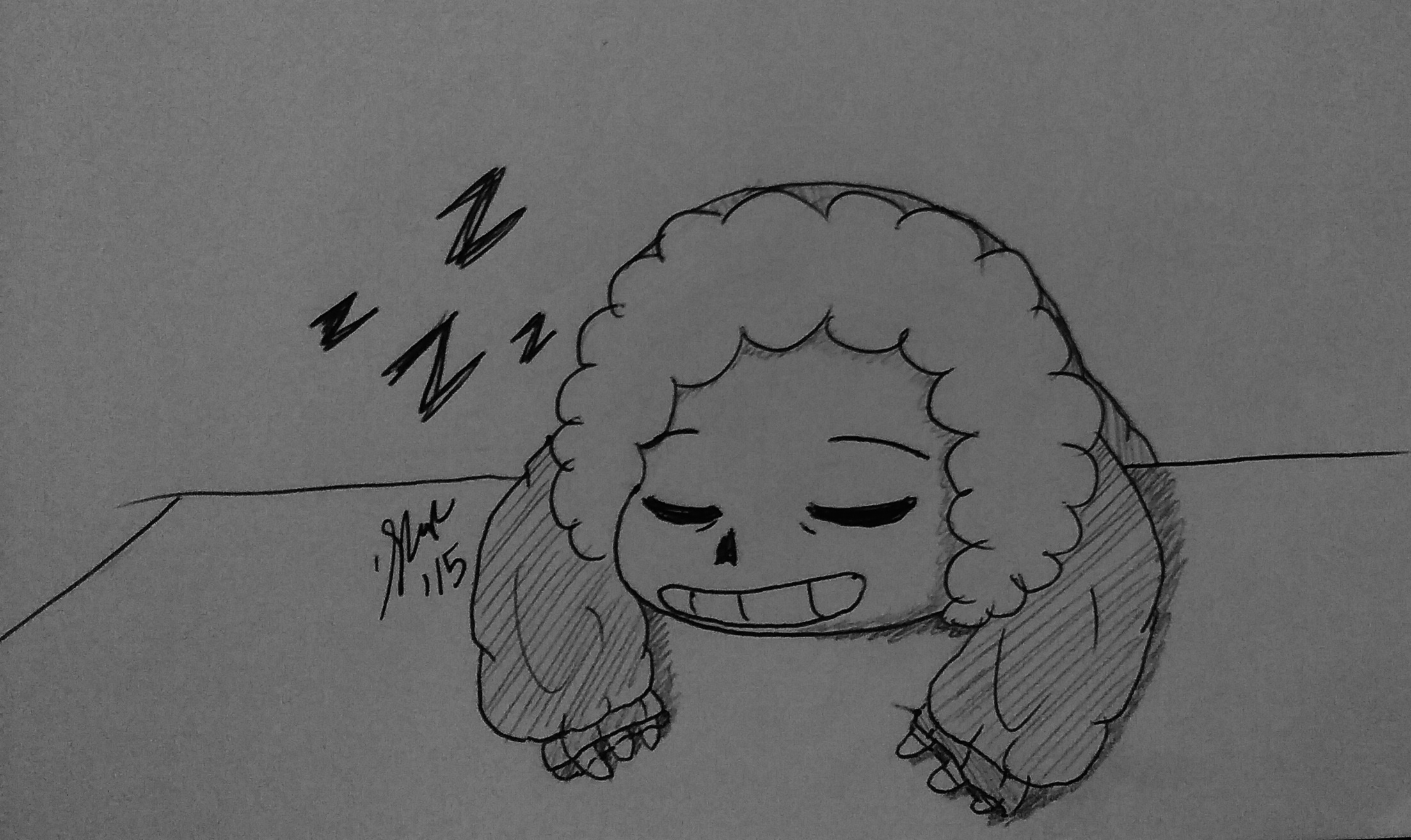 Sleeping smol sans