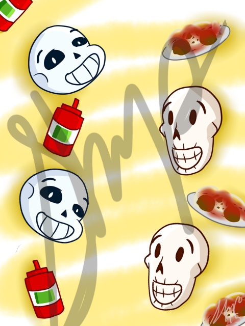 Sans and papy cell backround sample