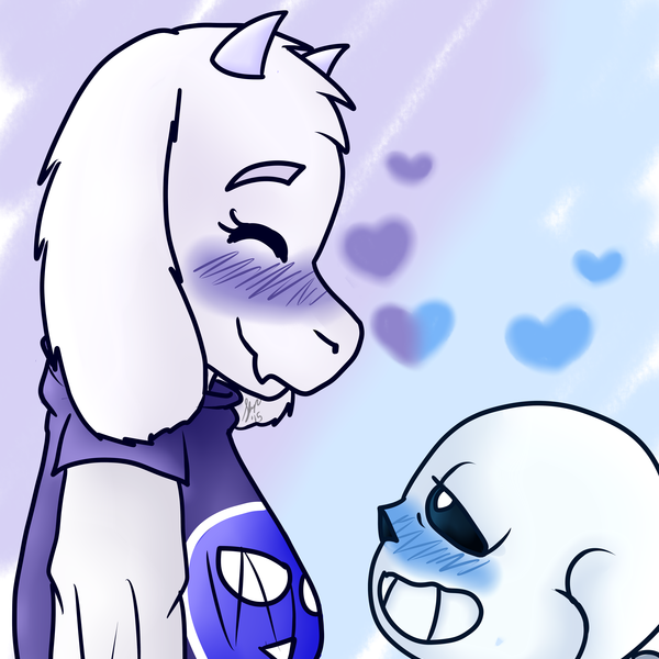 Thumb sans and toriel