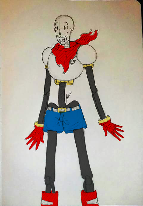 Tall colored papyrus 2