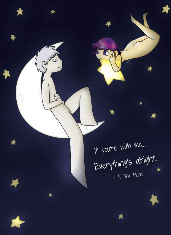 Everything s alright   moon and star