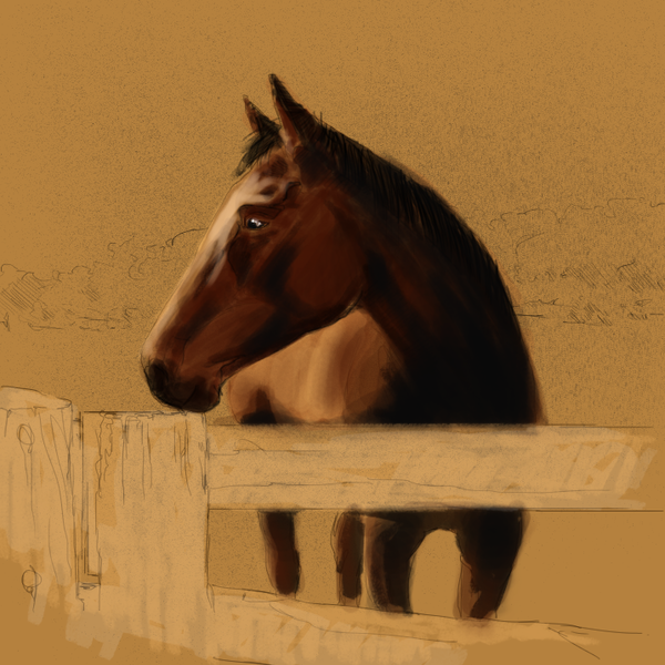 Thumb horse unfinished